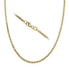 """שרשרת חבל זהב צהוב 1.9 מ""""מ עובי, 45 ס""""מ אורך"""