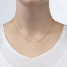 """שרשרת ספיגה זהב ורוד 0.8 מ""""מ עובי, 42 ס""""מ אורך"""