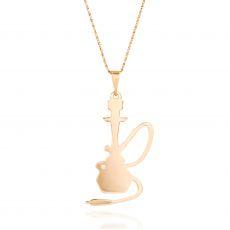 שרשרת זהב 14K ורוד - נרגילה