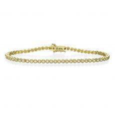 צמיד טניס יהלומים מילנו מזהב צהוב 14 קראט - שרלוט
