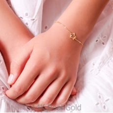 צמיד זהב לילדה - כוכבי זוהר