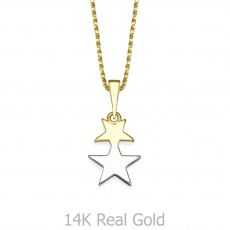 תליון זהב- כוכב אורנוס