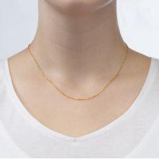 """שרשרת ספיגה זהב צהוב 14 קראט, 0.8 מ""""מ עובי, 42 ס""""מ אורך"""