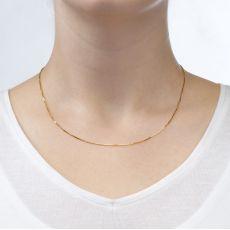 """שרשרת ונציה זהב צהוב 14 קראט, 0.8 מ""""מ עובי, 50 ס""""מ אורך"""