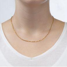 """שרשרת רולו זהב צהוב 14 קראט, 2.2 מ""""מ עובי, 45 ס""""מ אורך"""
