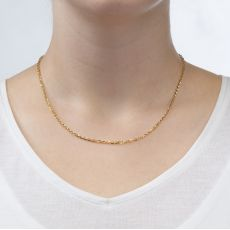 """שרשרת רולו זהב צהוב 14 קראט, 2.2 מ""""מ עובי, 55 ס""""מ אורך"""
