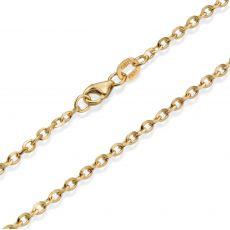 """שרשרת זהב צהוב 14 קראט לגבר, מדגם רולו 2.2 מ""""מ עובי, 55 ס""""מ אורך"""