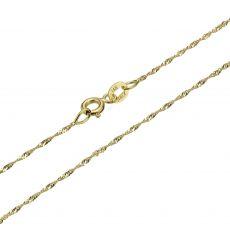 """שרשרת זהב צהוב 14 קראט לגברים, מדגם סינגפור 1.6 מ""""מ עובי, 50 ס""""מ אורך"""