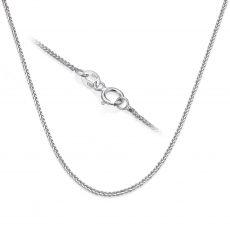"""שרשרת ספיגה זהב לבן 14 קראט, 0.8 מ""""מ עובי, 42 ס""""מ אורך"""
