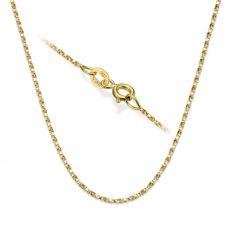 """שרשרת מסובבת זהב צהוב 14 קראט, 1 מ""""מ עובי, 50 ס""""מ אורך"""