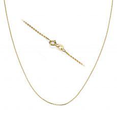 """שרשרת חבל זהב צהוב 14 קראט, 1 מ""""מ עובי, 45 ס""""מ אורך"""