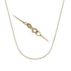 """שרשרת ונציה זהב צהוב 14 קראט, 0.53 מ""""מ עובי, 40 ס""""מ אורך"""