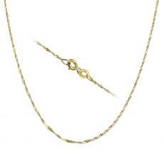 """שרשרת סינגפור זהב צהוב 14 קראט, 1.6 מ""""מ עובי, 45 ס""""מ אורך"""