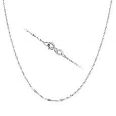 """שרשרת סינגפור זהב לבן 14 קראט, 1.6 מ""""מ עובי, 42 ס""""מ אורך"""