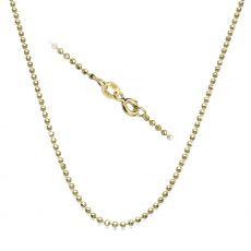 """שרשרת כדורים זהב צהוב 14 קראט, 1.8 מ""""מ עובי, 55 ס""""מ אורך"""