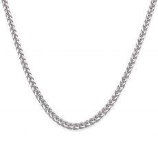 """שרשרת זהב לבן 14 קראט לגברים, מדגם ספיגה 1.5 מ""""מ עובי, 50 ס""""מ אורך"""
