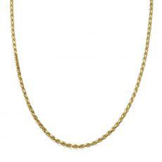 """שרשרת זהב צהוב 14 קראט לגברים, מדגם חבל 1.9 מ""""מ עובי, 50 ס""""מ אורך"""