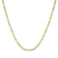 """שרשרת זהב צהוב 14 קראט לגברים, מדגם פיגרו 3.06 מ''מ עובי, 60 ס""""מ אורך"""