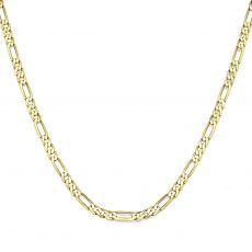 """שרשרת זהב צהוב 14 קראט לגברים, מדגם פיגרו 3.84 מ''מ עובי, 55 ס""""מ אורך"""