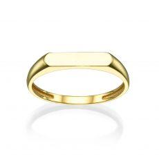 טבעת מזהב צהוב 14 קראט - חותם