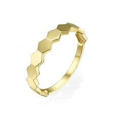 טבעת מזהב צהוב 14 קראט - האני