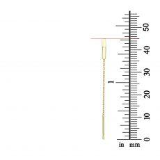 עגילים תלויים מזהב צהוב 14 קראט - משולש פתוח
