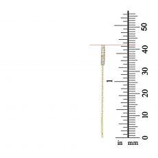 עגילים תלויים מזהב צהוב 14 קראט - משולש פתוח מנצנץ