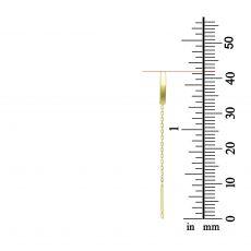 עגילים תלויים מזהב צהוב 14 קראט - ספיריט
