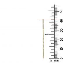 עגילים תלויים מזהב צהוב 14 קראט - ספיריט מנצנץ