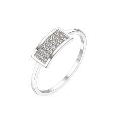טבעת מזהב לבן 14 קראט -   מרלין