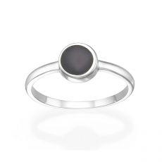 טבעת מזהב לבן 14 קראט - נפטון