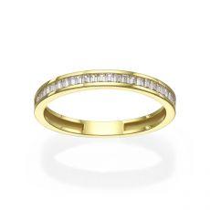 טבעת מזהב צהוב 14 קראט -   רומא
