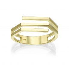 טבעת מזהב צהוב 14 קראט - אלין