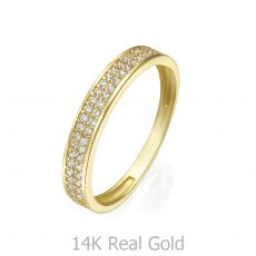 טבעת מזהב צהוב 14 קראט - מריאן