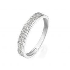 טבעת מזהב לבן 14 קראט - מריאן