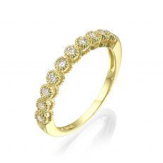טבעת יהלום מזהב צהוב 14 קראט - איזבל