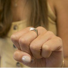 טבעת מזהב צהוב 14 קראט - מונקו