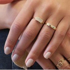 טבעת מזהב צהוב 14 קראט -   מרלין