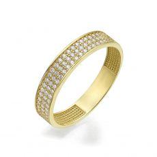 טבעת מזהב צהוב 14 קראט - קלייר