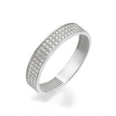 טבעת מזהב לבן 14 קראט - קלייר