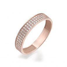 טבעת מזהב ורוד 14 קראט - קלייר