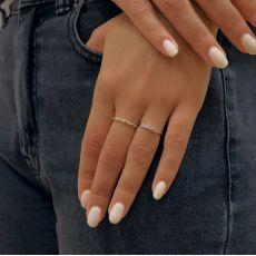 טבעת מזהב צהוב 14 קראט - סופיה