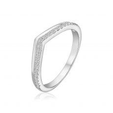 טבעת יהלומים מזהב לבן 14 קראט - ריילי