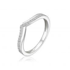 טבעת יהלומים מזהב לבן 14 קראט - שייה