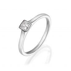 טבעת יהלומים מזהב לבן 14 קראט - קאיה