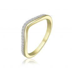 טבעת יהלומים מזהב צהוב 14 קראט - לורי