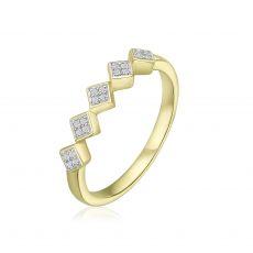 טבעת יהלומים מזהב צהוב 14 קראט - רייבן