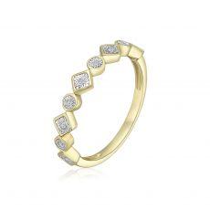 טבעת יהלומים מזהב צהוב 14 קראט - סקרלט
