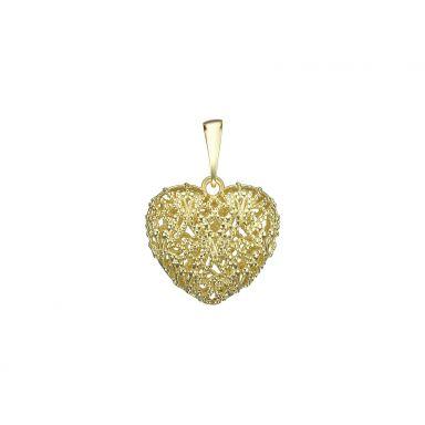 תליון זהב- לב אמור