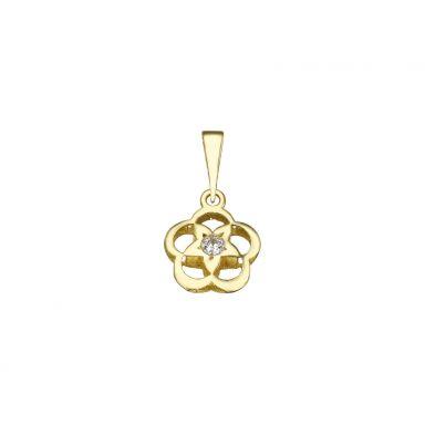 תליון זהב- פרח אשבל